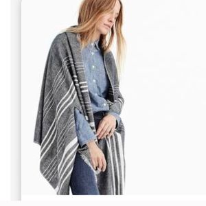 J. Crew Heather Gray & White Cape